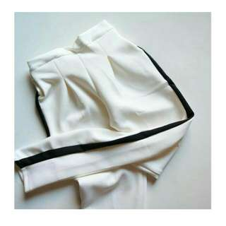 READY BKK IMPORT STRIPE PANTS WHITE (TINGGAL 1(SATU)