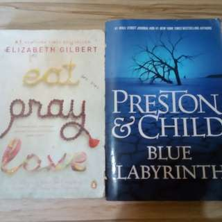 Eat Pray Love and Blue Labyrinth Book Bundle
