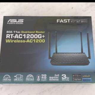 (FREE DELIVERY) BNIB ASUS RT-AC1200G+ Wireless Router