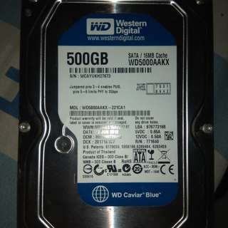 HDD internal 500GB SATA