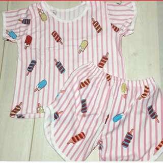 Pink terno 3-6Y Cotton