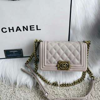 Chanel Boy Classic Mini Caviar Bag