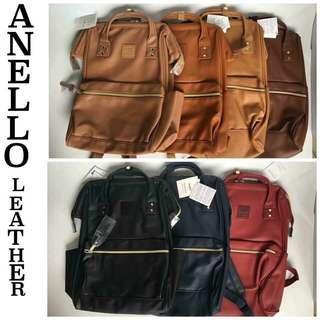 Anello Leather Diaper Bag