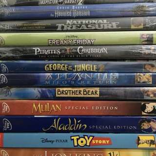Disney DVDs - Original, sealed (sold separately)