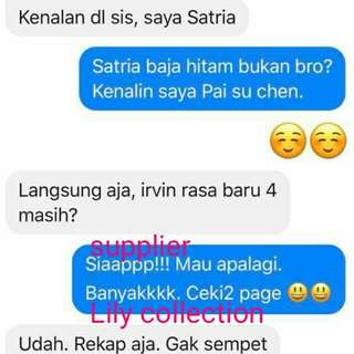 Testimoni supplier yg ajiiiibbb