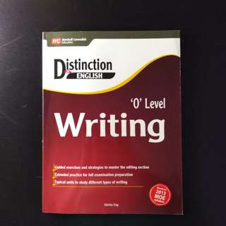 Distinction In English O Level Writing