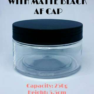 Clear Cream Tub Jar w/ AF Cap