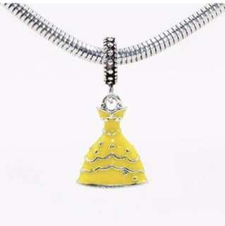 Yellow Princess Dress Charm
