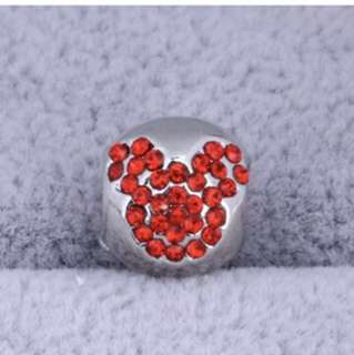 Red Mickey Round Charm