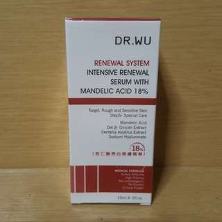 Dr Wu Renewal System Intensive Renewal Serum with Mandelic Acid 18% 15ml