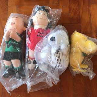 Snoopy and friends soft toys