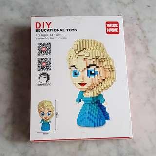 DIY nano blocks Elsa head