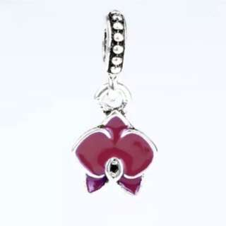 Pink Orchid Charm