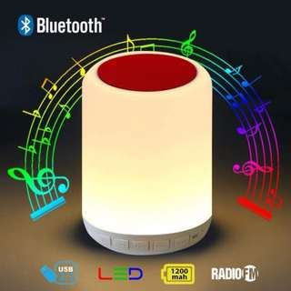 Wireless Bluetooth Speaker Y02 With Touching Sensible Lamp