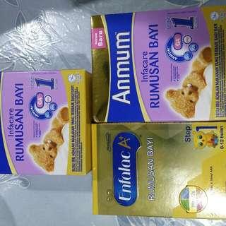 Infant milk powder (Anmum & Enfalac)