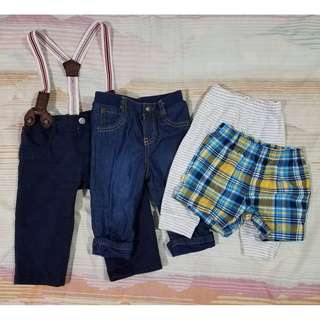 Baby Boy Assorted Pants and Short 6-9M