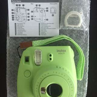 Fujifilm instax mini 9 - perfect condition, used only once!