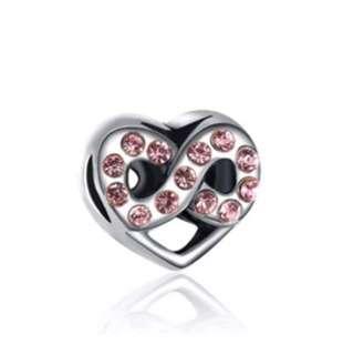 Infinity Love Pink Charm