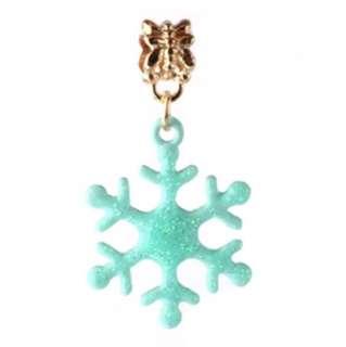 Blue Snowflake Charm