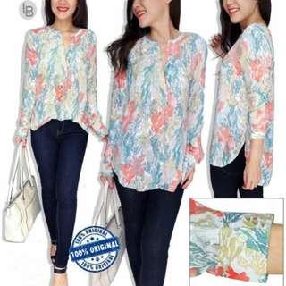 OLDNAVY Colorful Spring Print Longsleeve Cotton Blouse