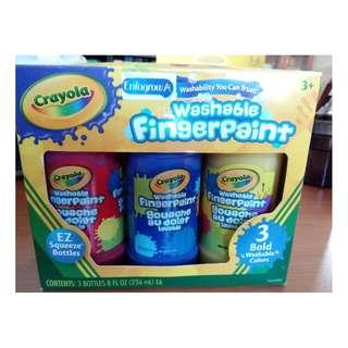 Brand new - Crayola washable fingerpaint (3 bottles per box)