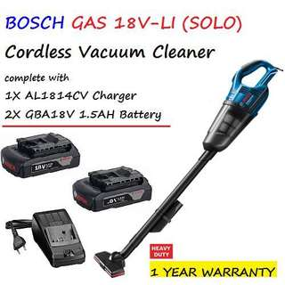 Brand New Bosch GAS 18V-1 Cordless Vacuum Cleaner (Set) With 2 Battery And 1 Charger