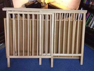 Set IKEA Wood Birch Baby Cot & IKEA Mattress