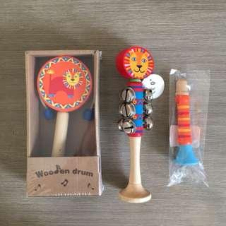 Kaper Kids Wooden Musical Instruments Set of 3