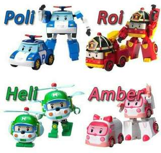 Mainan Anak Figure Robocar Poli Set Of 4 (4pcs)