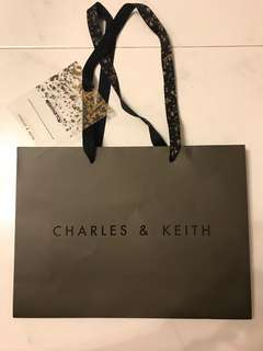 Charles & Keith Paper Bag with Tag