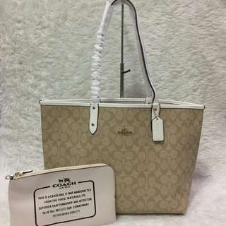 Coach City reversible tote bag with pouch - authentic overruns