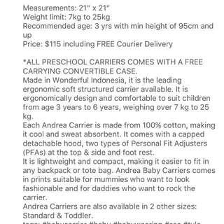 Andrea Preschool Carrier