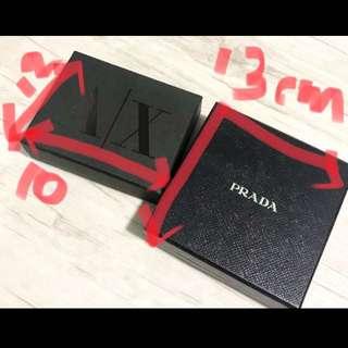 Authentic Prada & AX box
