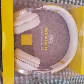 EB extra bass stereo head phone