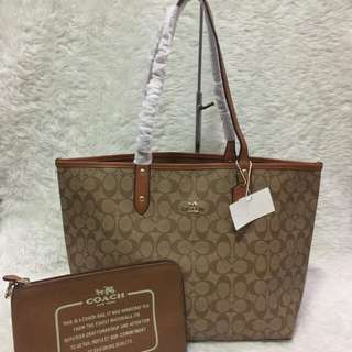 Coach City Reversible Tote bag with Pouch (authentic overruns)