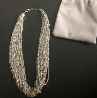 STATEMENT NECKLACE- Chunky Silver Necklace