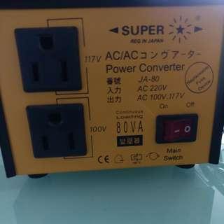 110v - 220v 變壓器 火牛 (95% new 100%work 少用)