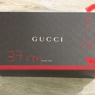 Authentic Gucci shoe box!