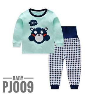 Baby Pyjamas High Waist Bellyband Pants