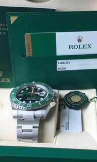 Rolex 888 116610LV 綠綠 行2018 Feb 全新