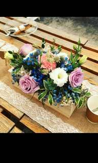 Fresh Flower Centerpiece with Roses Eustomas Carnations and Mix Fillers / Bridal VIP Centerpiece / Flower Arrangements