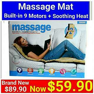[Brand New]  Motorised Massage Mat for shoulder/backache with Soothing Heat on Reversible Faux luxurios Sheepskin + 9 motor engine. (Brand new in box & sealed) . Usual Price:$ 89.90  Special Price:$ 59.90  Whatsapp 85992490 to collect today