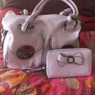 Mimco handbag and matching purse
