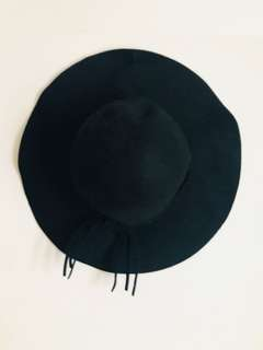 💖Black Felt Floppy Hat [95% new]💖