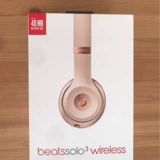 BEATS solo 3 Wireless BRAND NEW