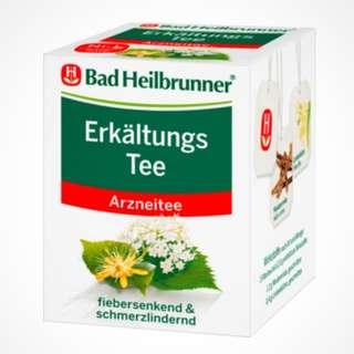 德國 Bad Heilbrunner ErkältungsTee 感冒茶, 1盒8個茶包(11/3到港)