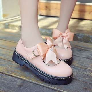 Pastel Coloured Lace Ribbon Buckle Straps Korean Style Shoes