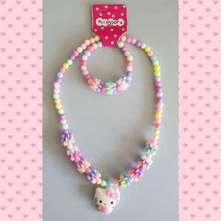 Toddler girl necklace and bracelet set - Design A