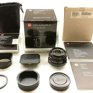 Leica 35mm Summarit 2.5 + lens hood