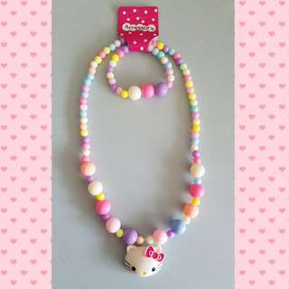 Toddler girl necklace and bracelet set - Design B